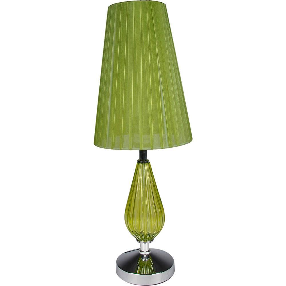 Luminária de Mesa Ille De Couleur Nouveau Verde em Metal e Vidro - Urban - 48x11 cm