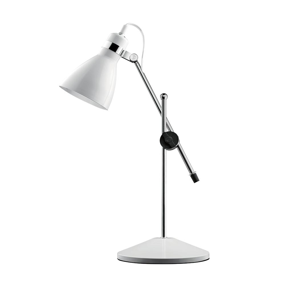 Luminária de Mesa Isis Articulada Branca Média Bivolt em Metal - 51x17 cm