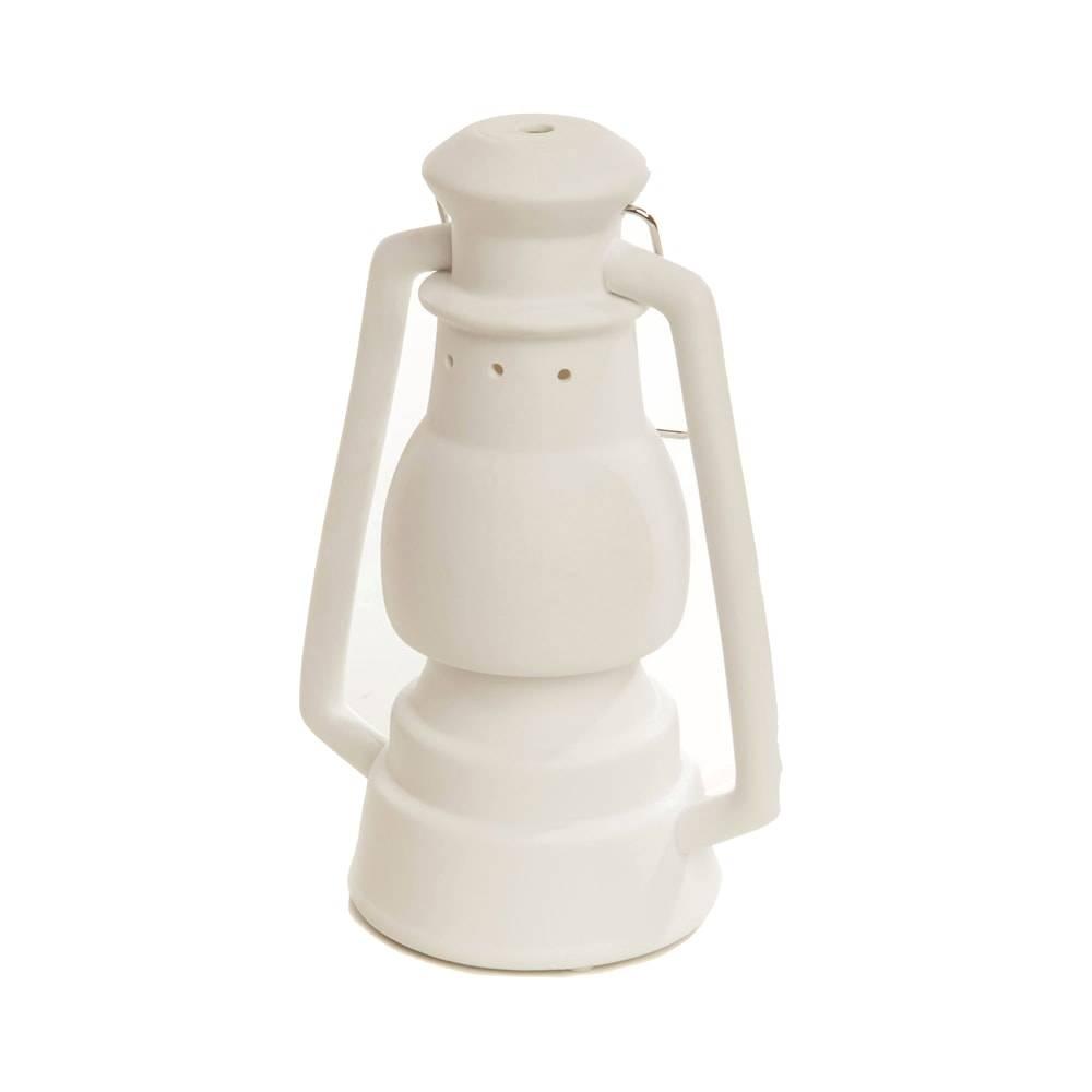 Luminária de Mesa Lampião Branca em Porcelana - 26x18 cm