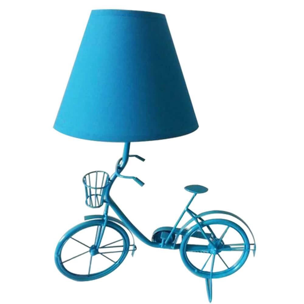 Luminária de Mesa Little Bike Azul em Metal - Urban - 29x15 cm