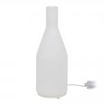 Luminária de Mesa Média Garrafa Branca em Vidro - 44x15 cm