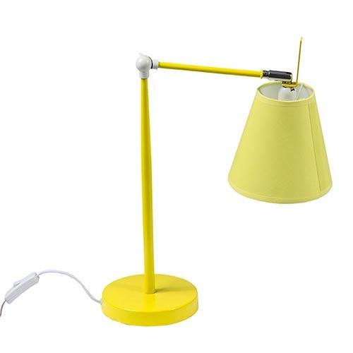 Luminária de Mesa Regulável Amarelo Fullway - 75x15 cm