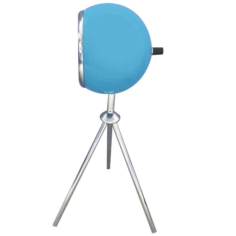 Luminária de Mesa Tripé Bebop Azul Brilhante em Metal - Urban - 50x15 cm