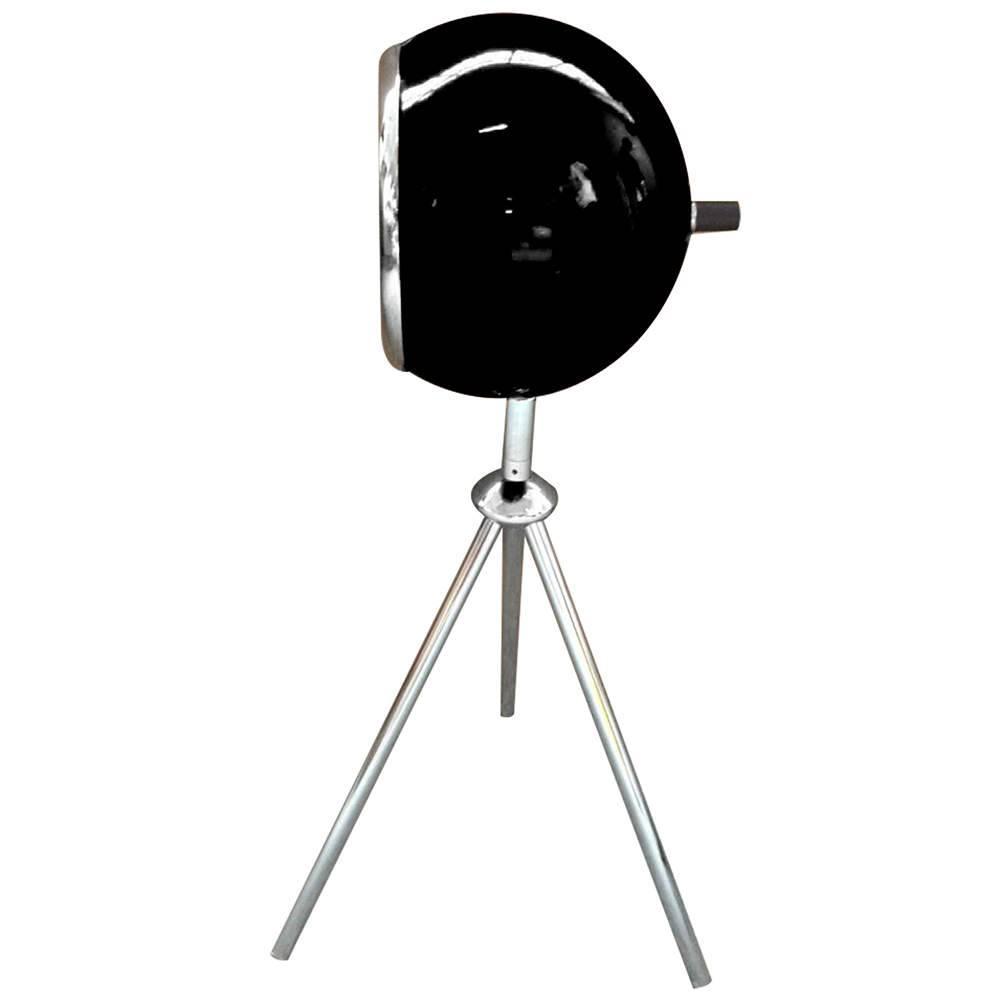 Luminária de Mesa Tripé Bebop Preta Brilhante em Metal - Urban - 50x15 cm