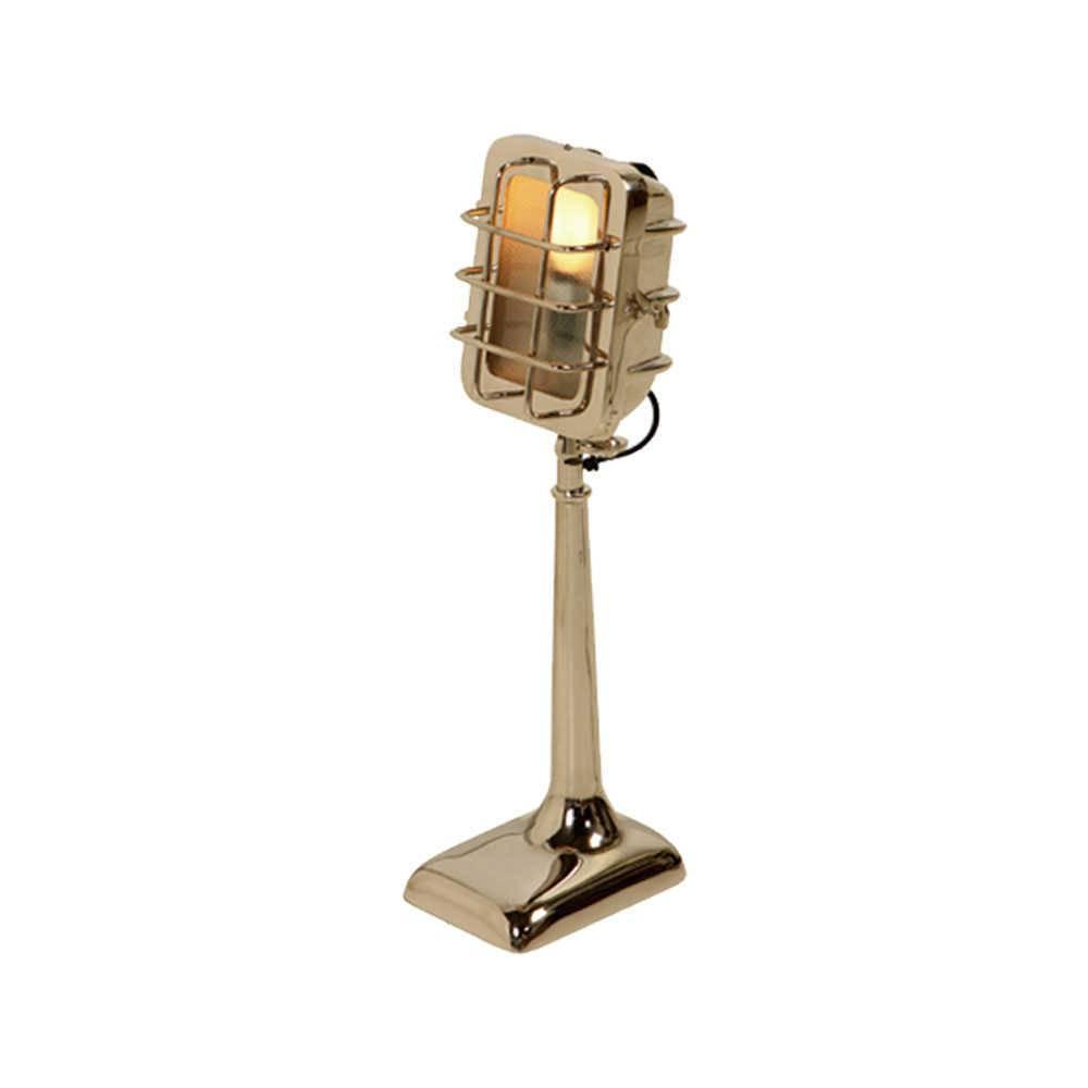 Luminária Mice Industrial Prata em Metal com Banho de Níquel - 45x30 cm