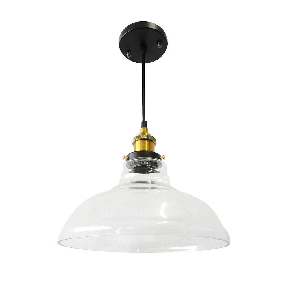 Luminária Retrô Focus Transparente em Metal e Vidro - 90x28 cm