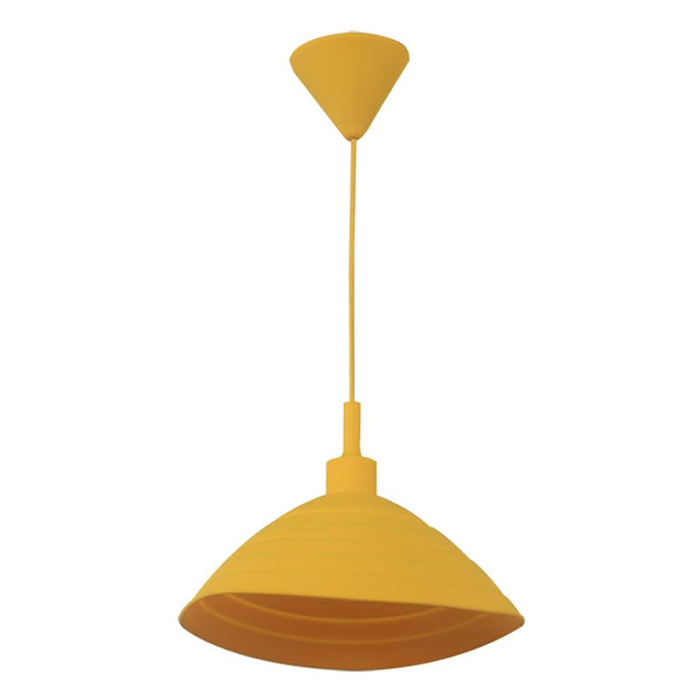 Luminária Round Shape Amarela em Silicone - Urban - 24x15 cm