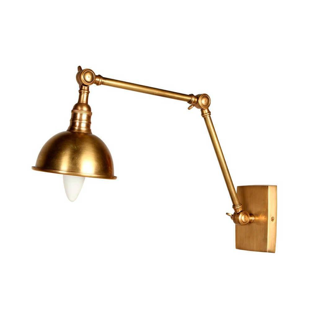Luminária Shass Dourada em Metal - 56x14 cm