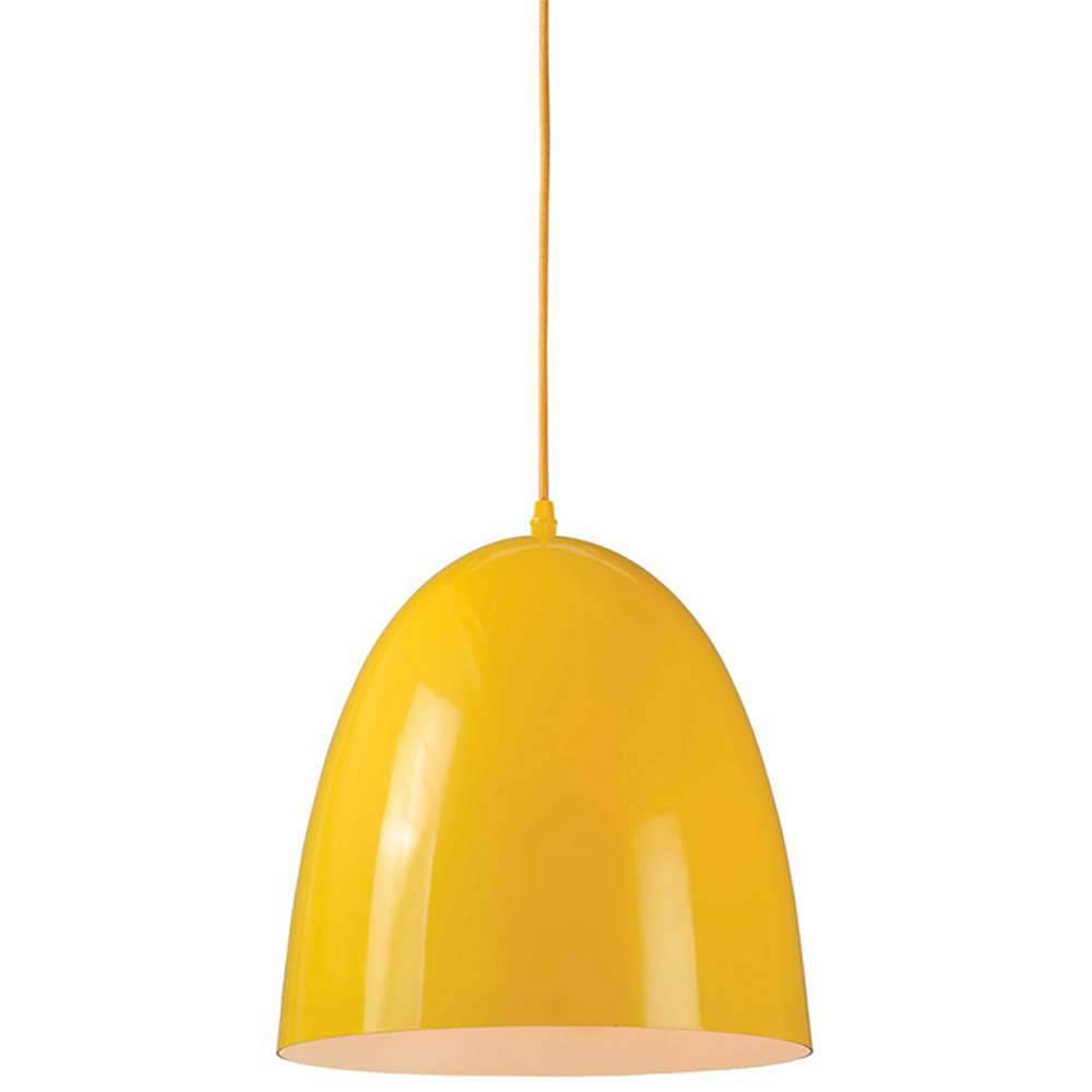 Luminária Sugar Loaf Amarelo em Metal - Urban - 34x30 cm