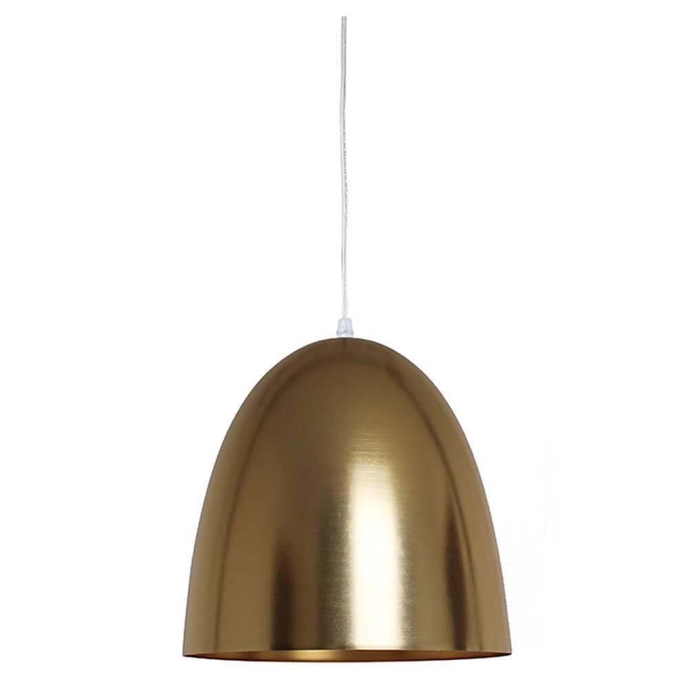 Luminária Sugar Loaf Dourado em Metal - Urban - 34x30 cm