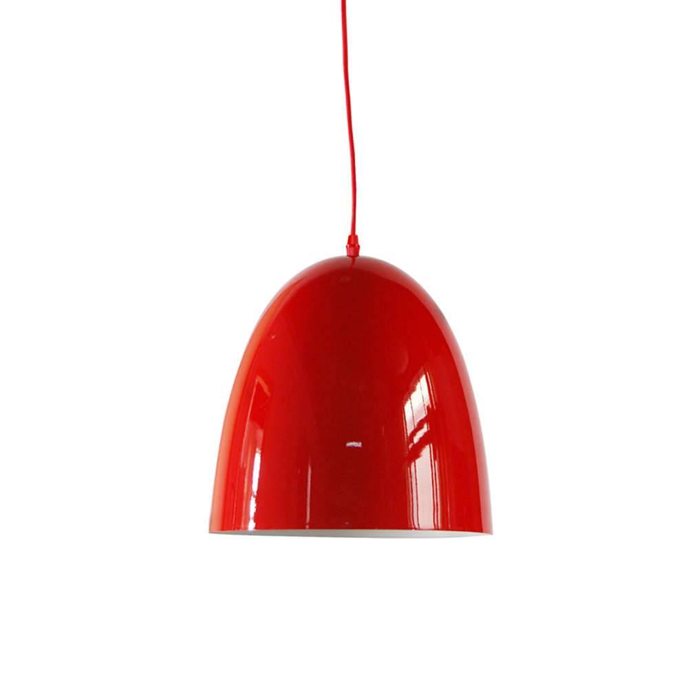 Luminária Sugar Loaf Vermelho em Metal - Urban - 34x30 cm