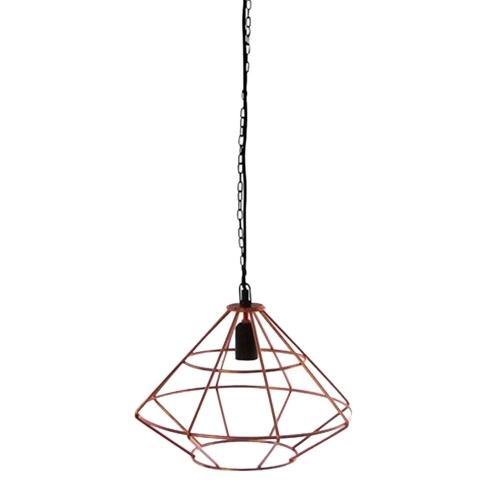 Luminária de Teto Aramado Cobre em Metal - 37x31,5 cm