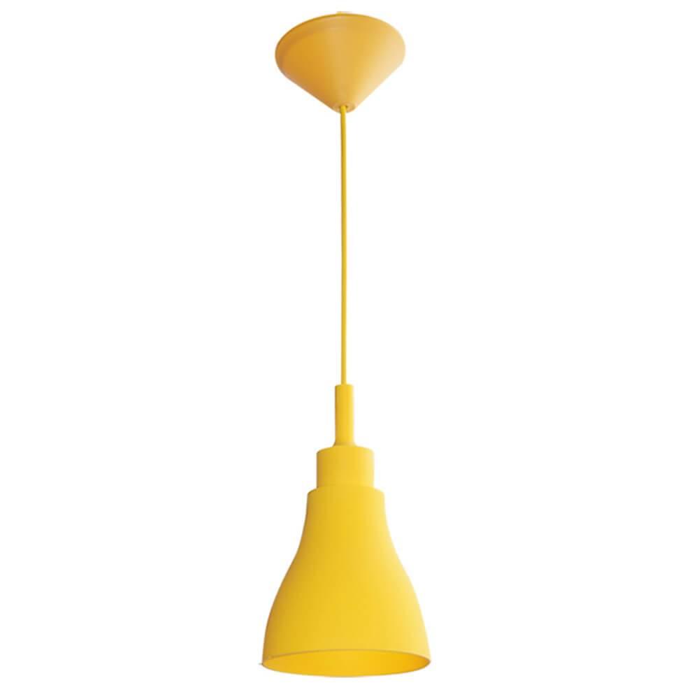 Luminária de Teto Cone Shape Amarelo em Silicone - Urban - 14x13 cm