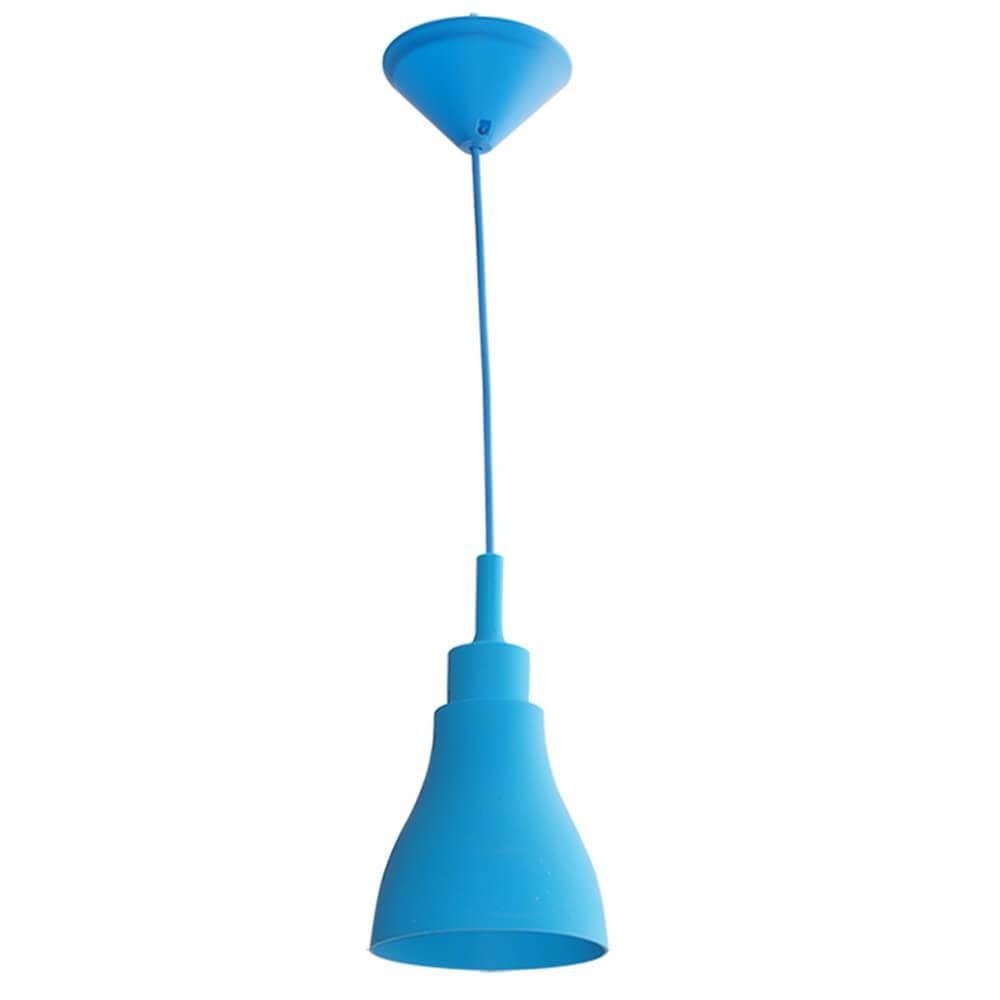 Luminária de Teto Cone Shape Azul em Silicone - Urban - 50x14 cm