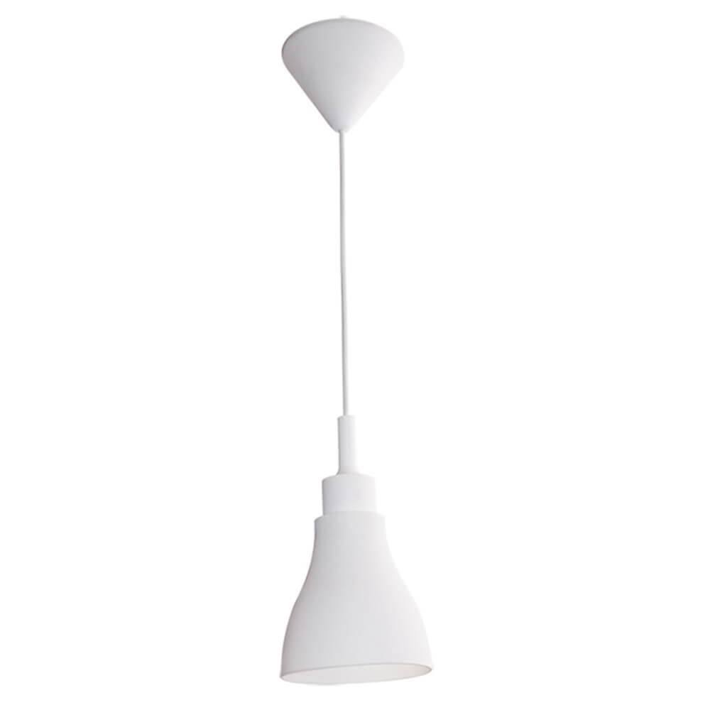 Luminária de Teto Cone Shape Branca em Silicone - Urban - 14x13 cm