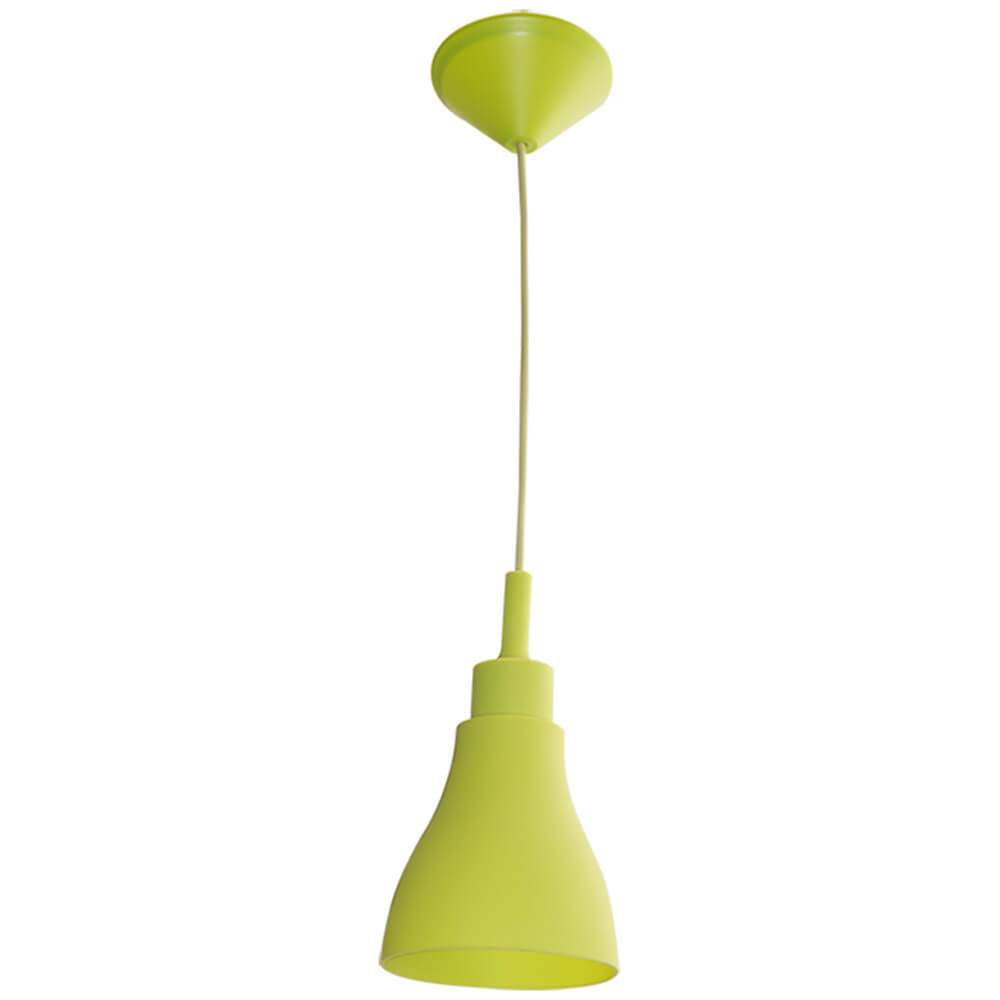 Luminária de Teto Cone Shape Verde em Silicone - Urban - 14x13 cm