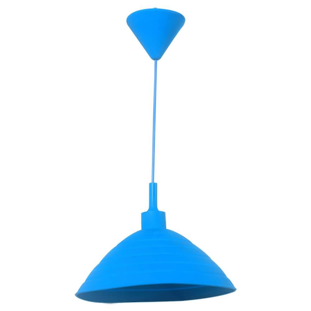 Luminária de Teto Round Shape Azul em Silicone - Urban - 24x15 cm