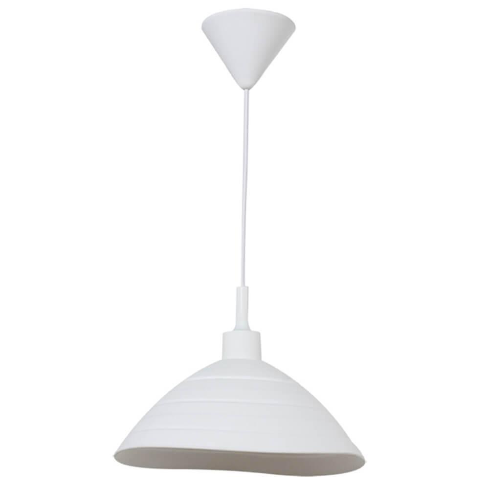 Luminária de Teto Round Shape Branca em Silicone - Urban - 24x15 cm