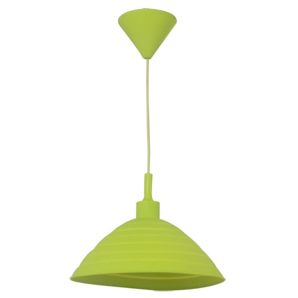 Luminária de Teto Round Shape Verde em Silicone - Urban - 24x15 cm