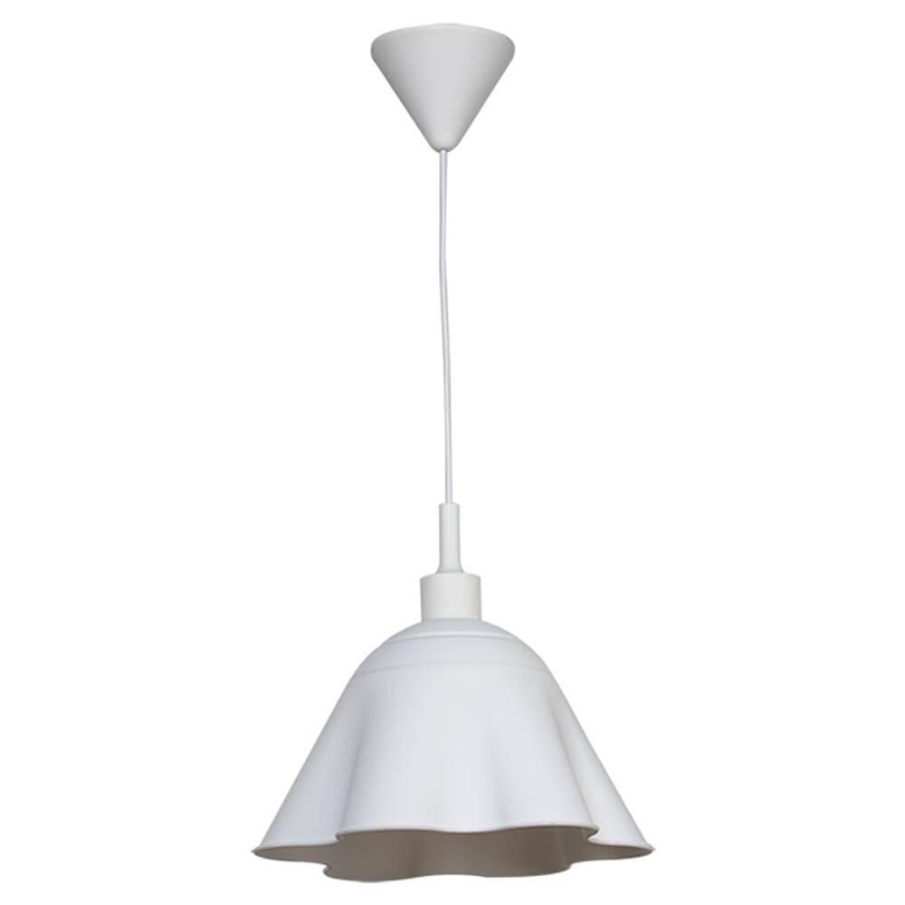 Luminária de Teto Skirt Shape Branca em Silicone - Urban - 70x30 cm