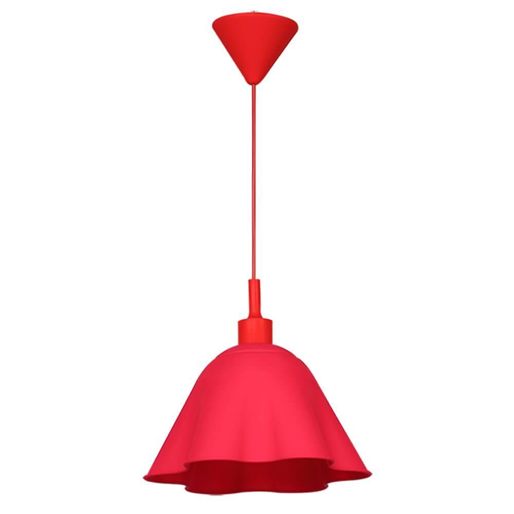 Luminária de Teto Skirt Shape Rosa em Silicone - Urban - 70x30 cm