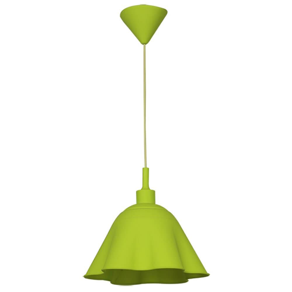 Luminária de Teto Skirt Shape Verde em Silicone - Urban - 30x18 cm