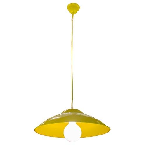 Luminária Tradicional de Teto Amarelo Fullway - 102x40 cm