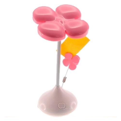 Luminária Trevo Rosa com Porta-Fotos - 22x10 cm