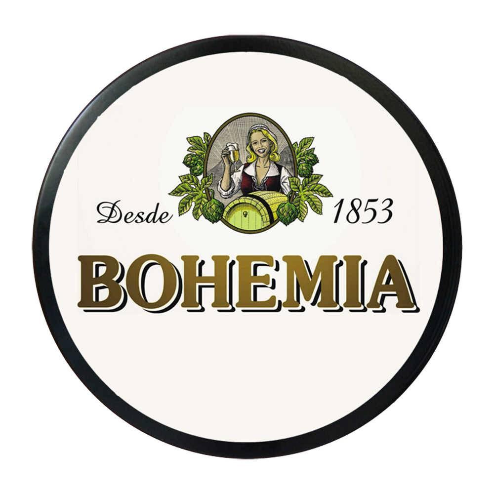 Luminoso Bohemia Branco Redondo - Bivolt - em Alumínio com LED - 30x4 cm