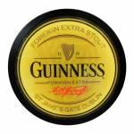 Luminoso sem Fio Guinness Amarelo Redondo em Alumínio com LED - 30x4 cm