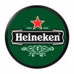 Luminoso Heineken Verde Redondo - Bivolt - em Alumínio com LED - 30x4 cm
