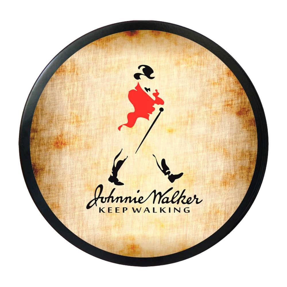 Luminoso Johnnie Walker Redondo - Bivolt - em Alumínio com LED - 30x4 cm