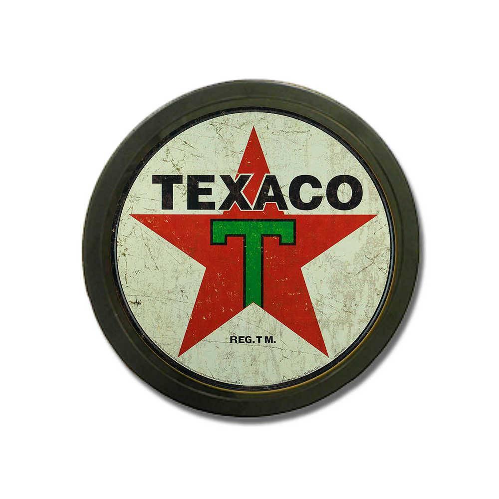 Luminoso Texaco Redondo - Bivolt - em Alumínio com LED - 30x4 cm
