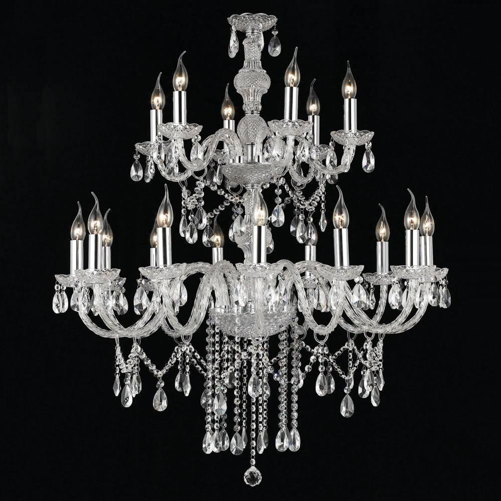 Lustre Glamour Translúcido - Bivolt - em Cristais - 200x150 cm