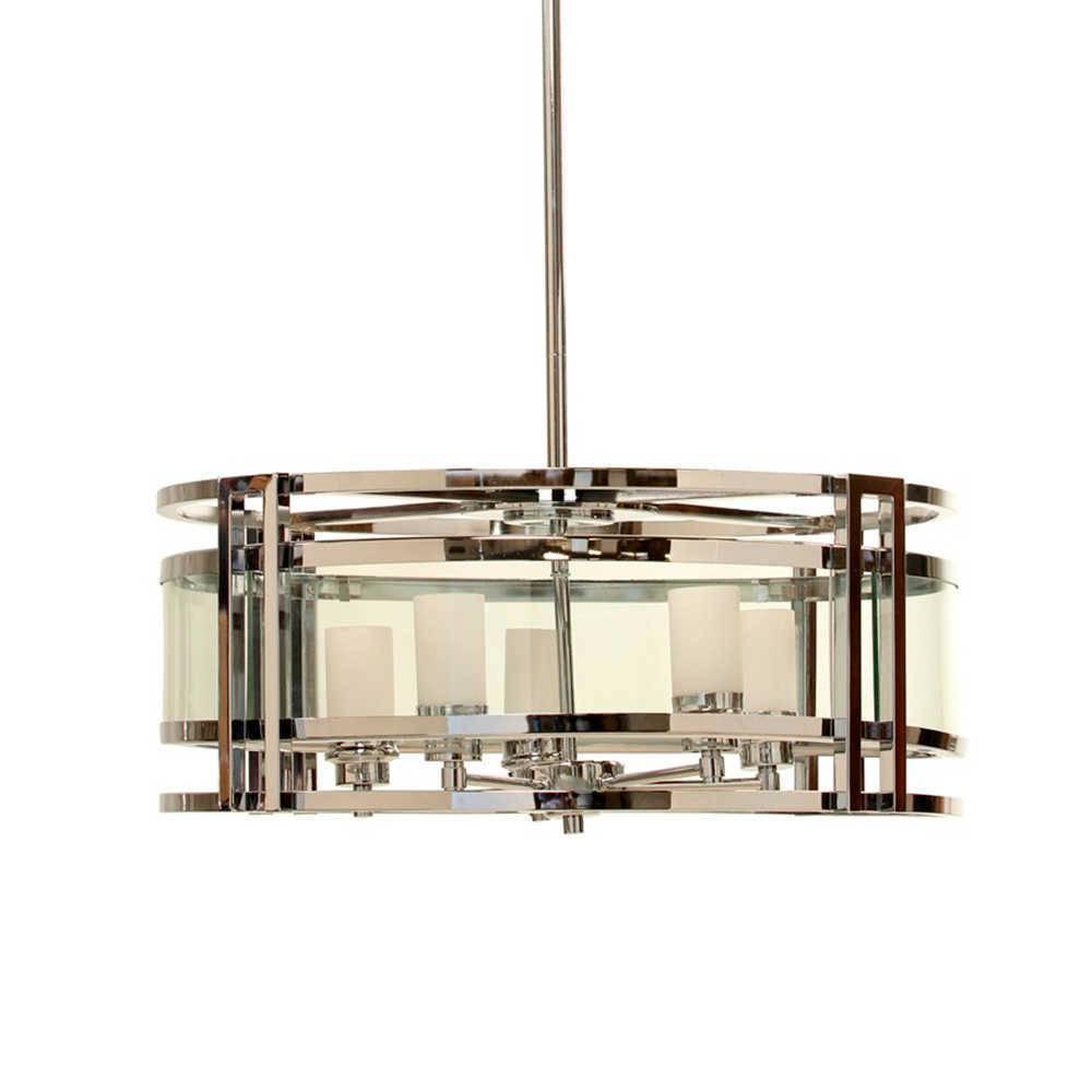 Lustre Glass Wall em Metal e Vidro Transparente - 135x60 cm