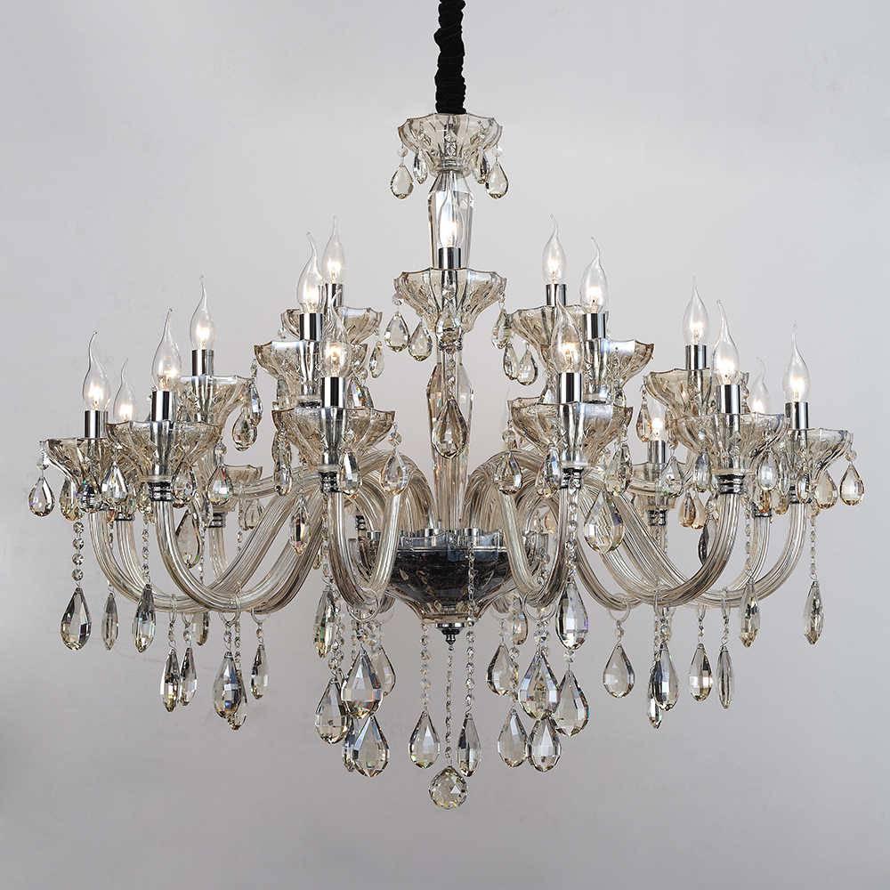 Lustre Lanior para 21 Lâmpadas em Cristal com Estrutura de Metal - 90x90 cm