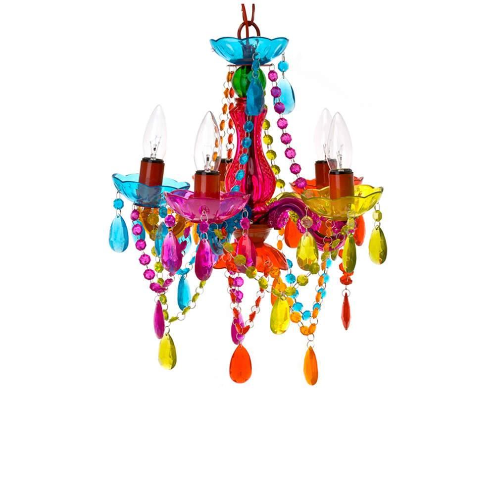 Lustre New Gipsy Small Multicolorido em Acrílico - Urban - 30x28 cm