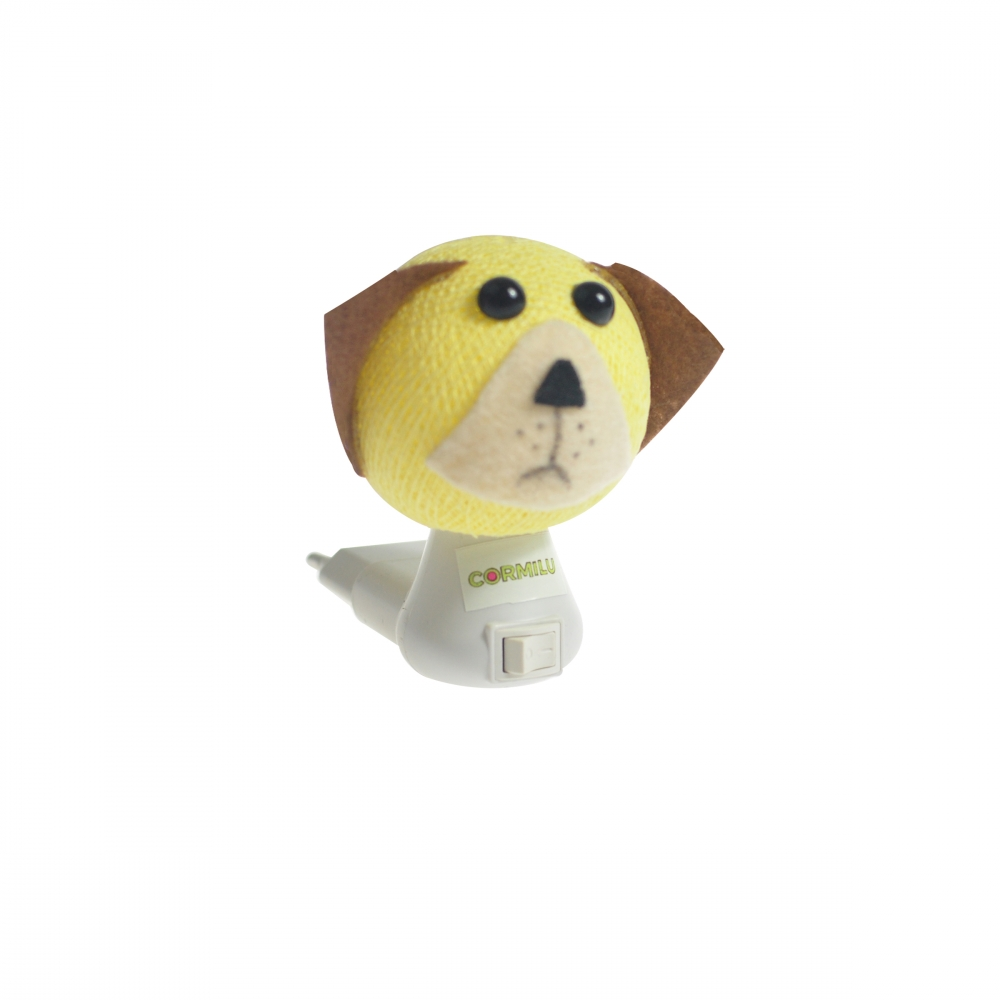 Luz noturna cachorro bege