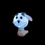 Luz noturna cachorro branco