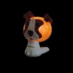 Luz noturna cachorro marrom