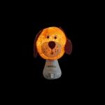 Luz noturna cachorro orelha longa damasco