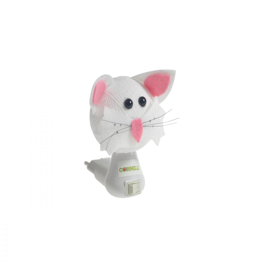 Luz noturna gato branco