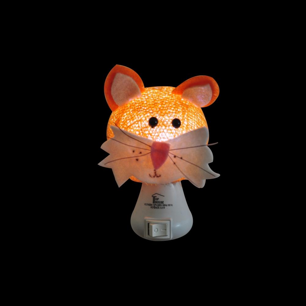 Luz noturna gato laranja