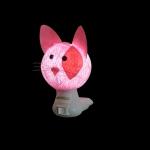 Luz noturna gato rosa
