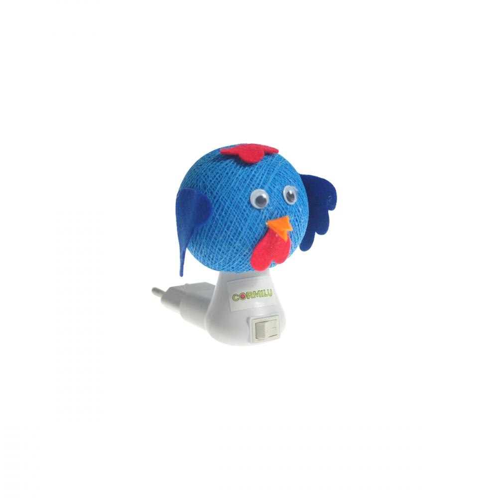 Luz noturna passarinho azul