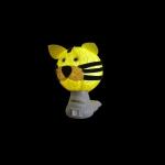 Luz noturna tigre amarelo