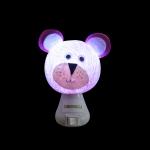 Luz noturna ursinho rosa