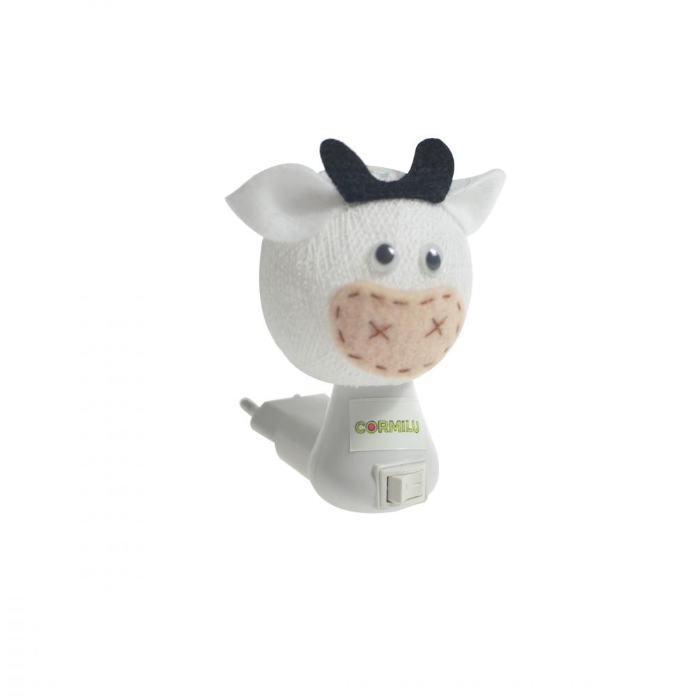 Luz noturna vaca branca