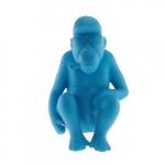 Macaco Sentado Azul em Cerâmica - 22x14 cm
