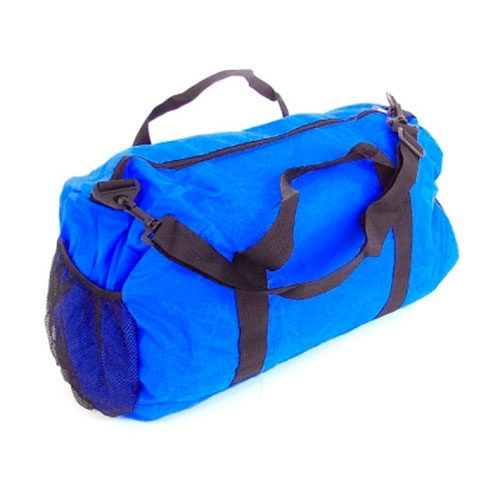 Mala Dobrável Colors - com Alças - Azul em Nylon - 50x30 cm